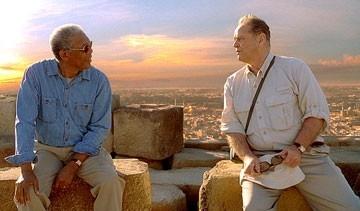 Jack Nicholson e Morgan Freeman in una scena di Non è mai troppo tardi