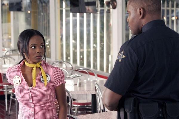 Heroes Volume II - Episodio 5: Monica (Dana Davis) interrogata dalla polizia