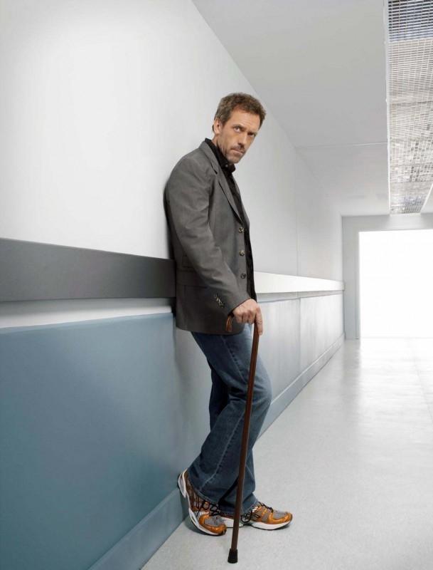 Hugh Laurie in una foto promozionale della terza stagione di Dr House: Medical Division