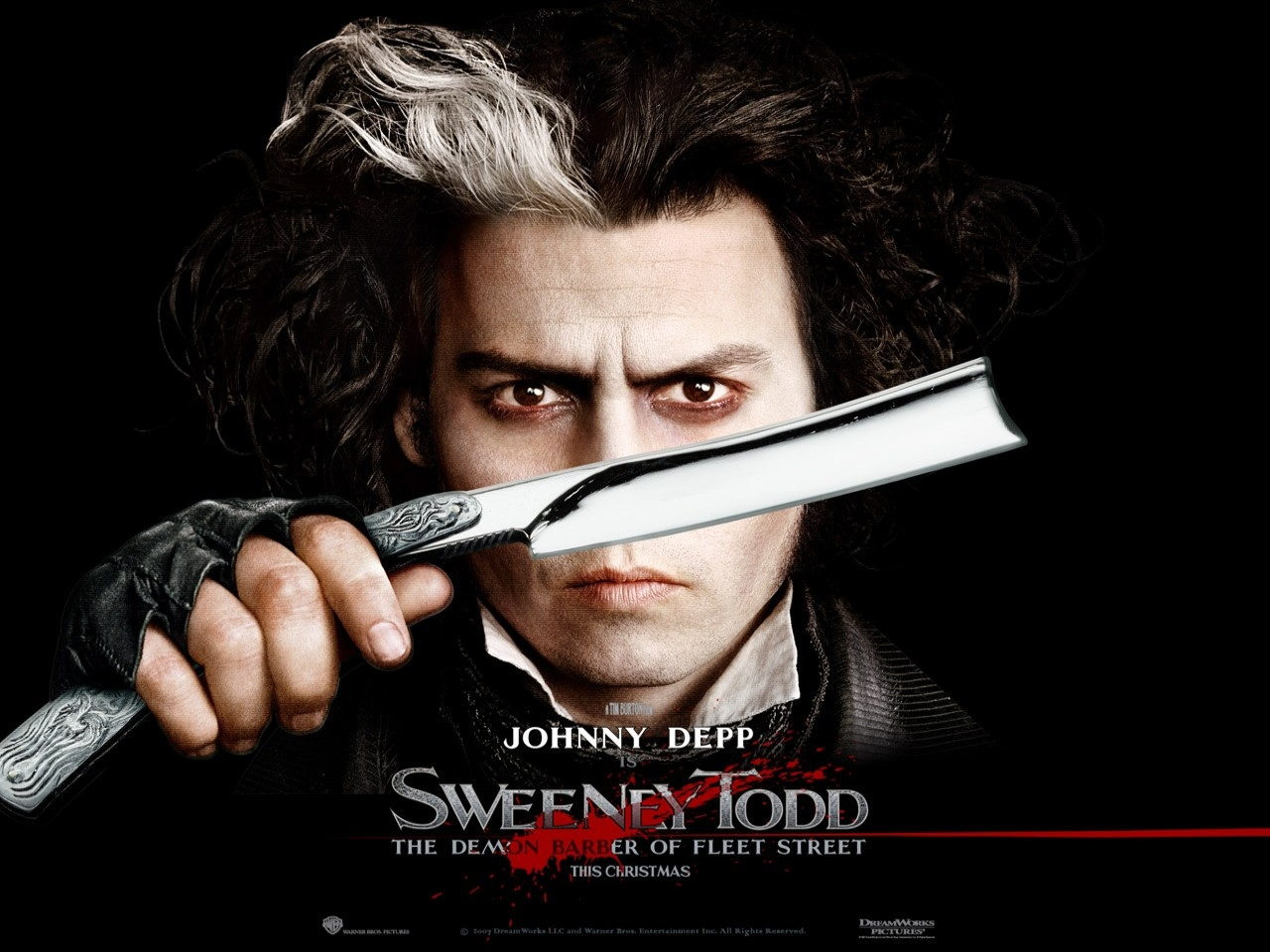 Wallpaper di Johnny Depp nel film Sweeney Todd - Il diabolico barbiere di Fleet Street
