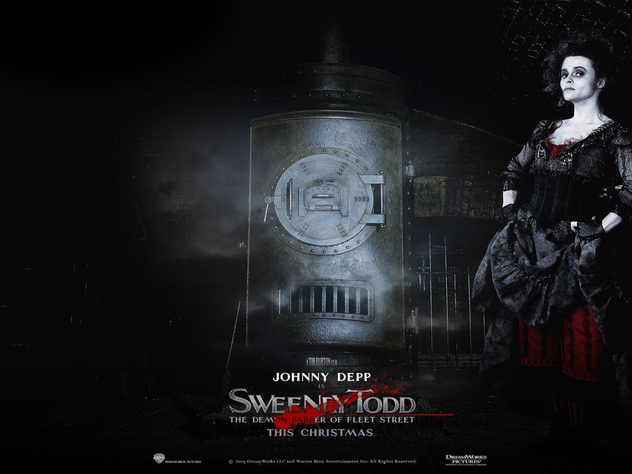 Wallpaper del film Sweeney Todd - Il diabolico barbiere di Fleet Street
