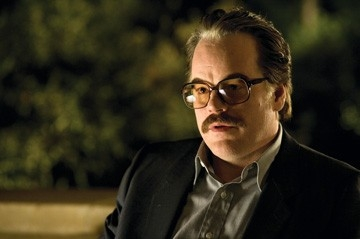 Philip Seymour Hoffman in una scena del film La guerra di Charlie Wilson, 2007