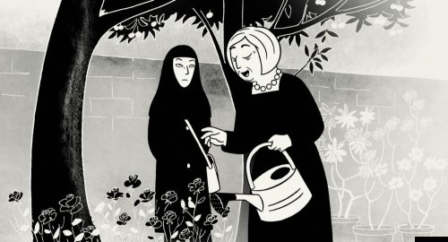 Un'immagine del film Persepolis, ispirato all'omonima graphic novel di Marjane Satrapi