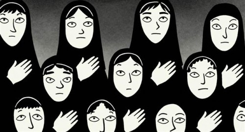 Una sequenza del film Persepolis, ispirato all'omonima graphic novel di M. Satrapi