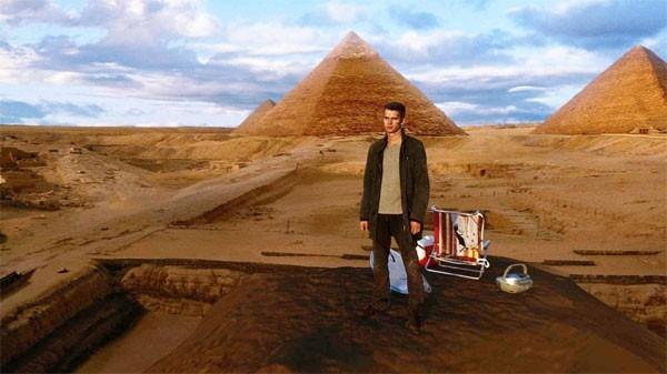 Hayden Christensen in una scena del film Jumper - Senza confini