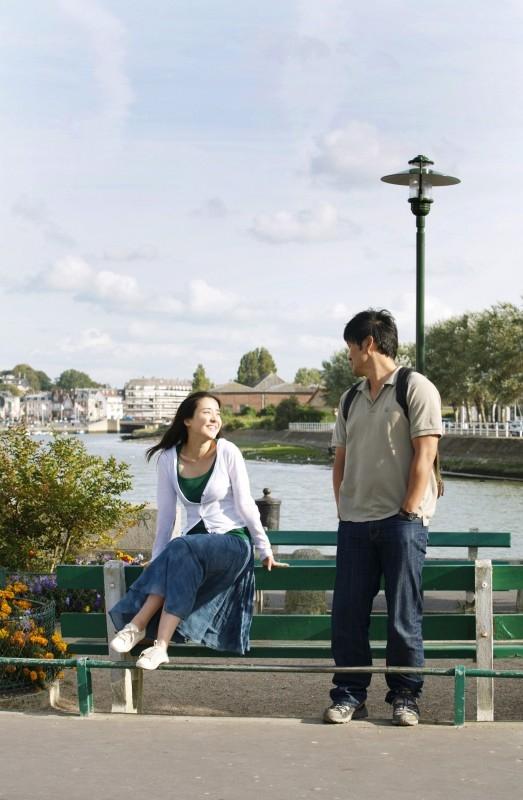 Kim Young-Ho e Park Eun-hye in una scena di 'Night and Day'