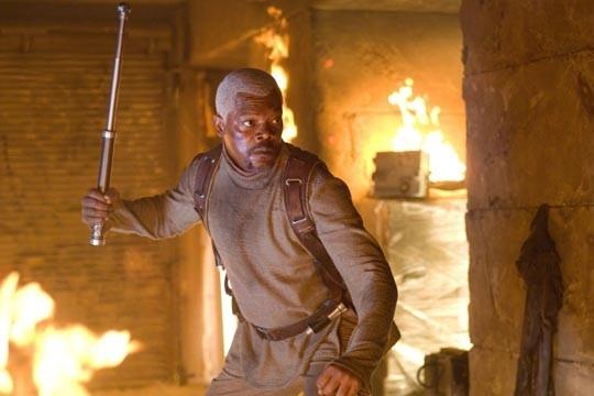 Samuel L. Jackson in una scena del film Jumper - Senza confini (2008)