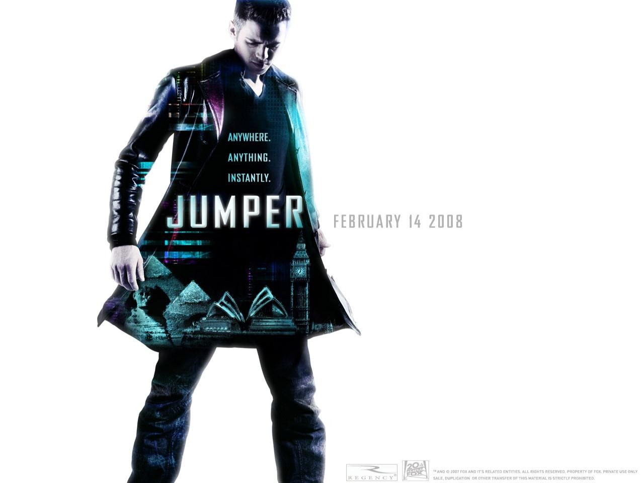 Wallpaper del film Jumper - Senza confini con Hayden Christensen