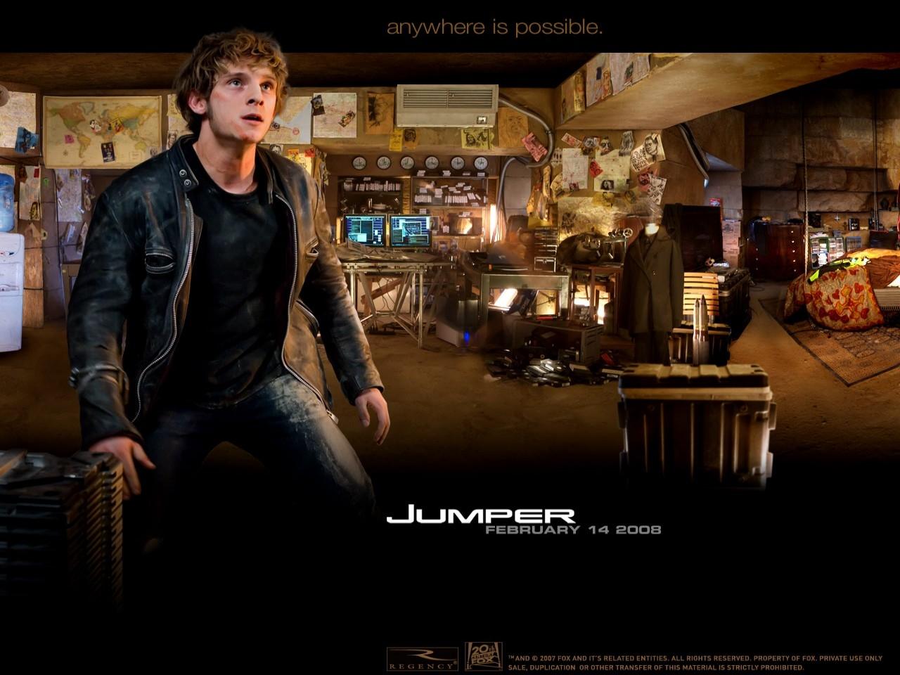 Wallpaper del film Jumper - Senza confini con Jamie Bell