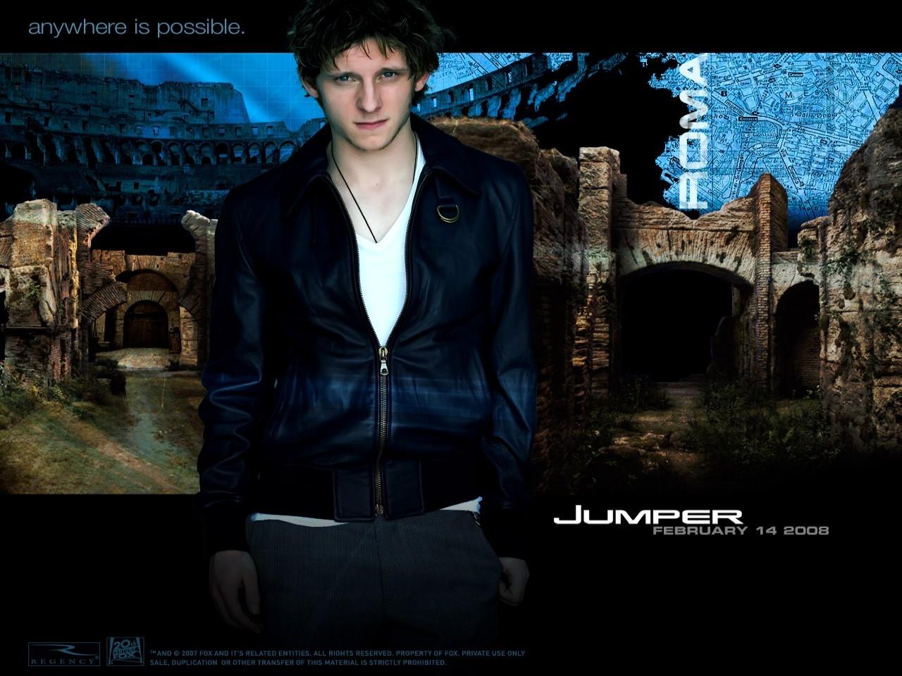 Jamie Bell in un wallpaper del film Jumper - Senza confini