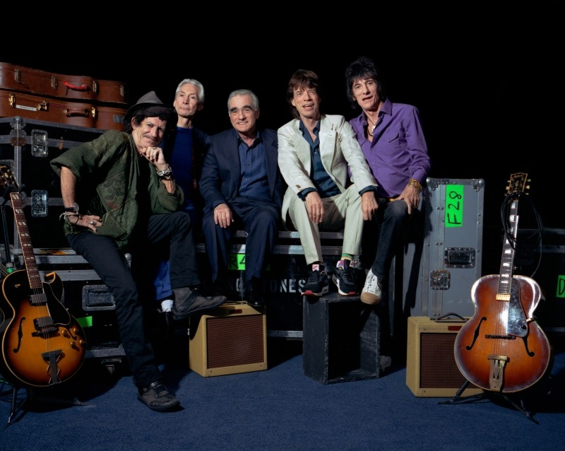 I Rolling Stones con Martin Scorsese, regista di Shine a Light