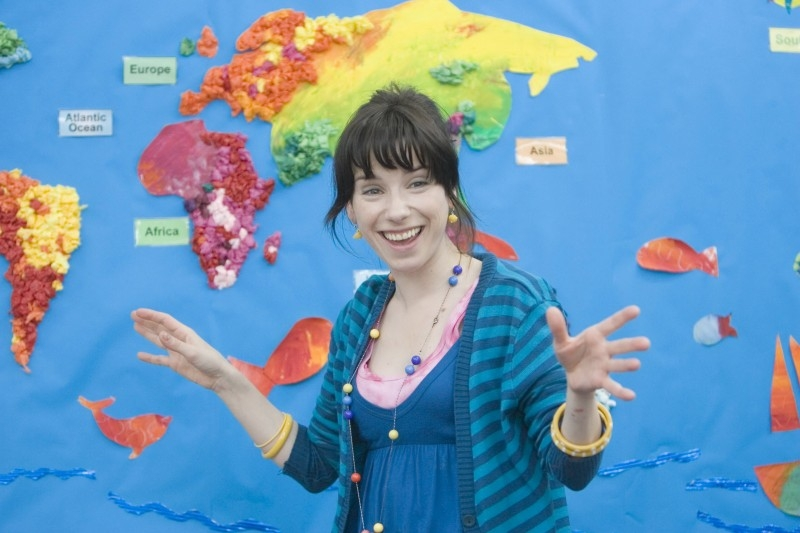 Sally Hawkins in una scena di 'Happy Go-Lucky'