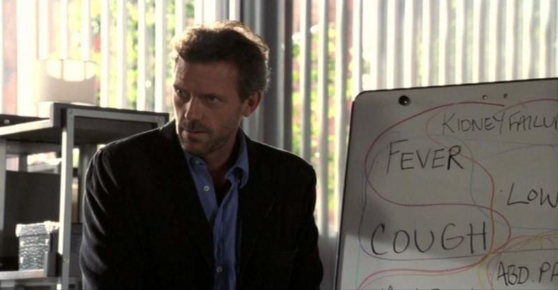 Nel terzo episodio della prima stagione della serie 'Dr House: Medical division', House (Hugh Laurie) cerca di arrivare alla giusta diagnosi
