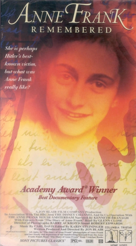 La locandina di Anne Frank Remembered
