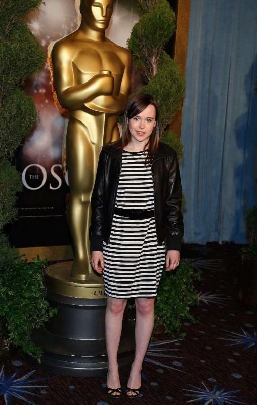 Ellen Page, candidata all'Oscar come miglior attrice protagonista per Juno, al Nominees Luncheon 2008