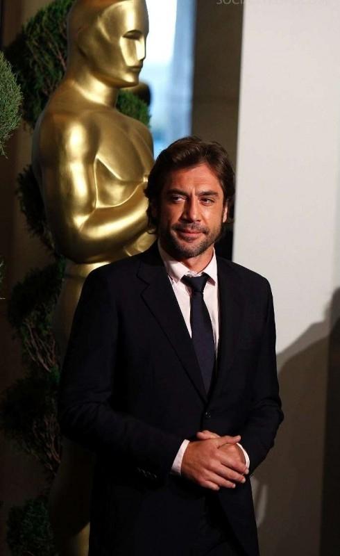 Javier Bardem, nominato all'Oscar come miglior attore non protagonista per Non è un paese per vecchi, al Nominees Luncheon 2008