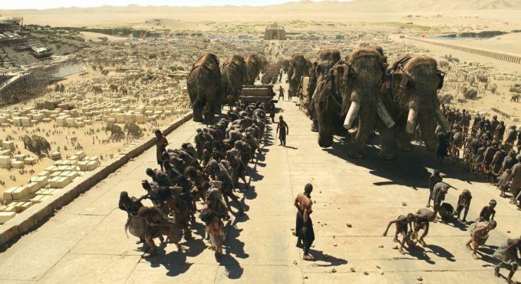 Una scena del film 10,000 AC, diretto da Roland Emmerich