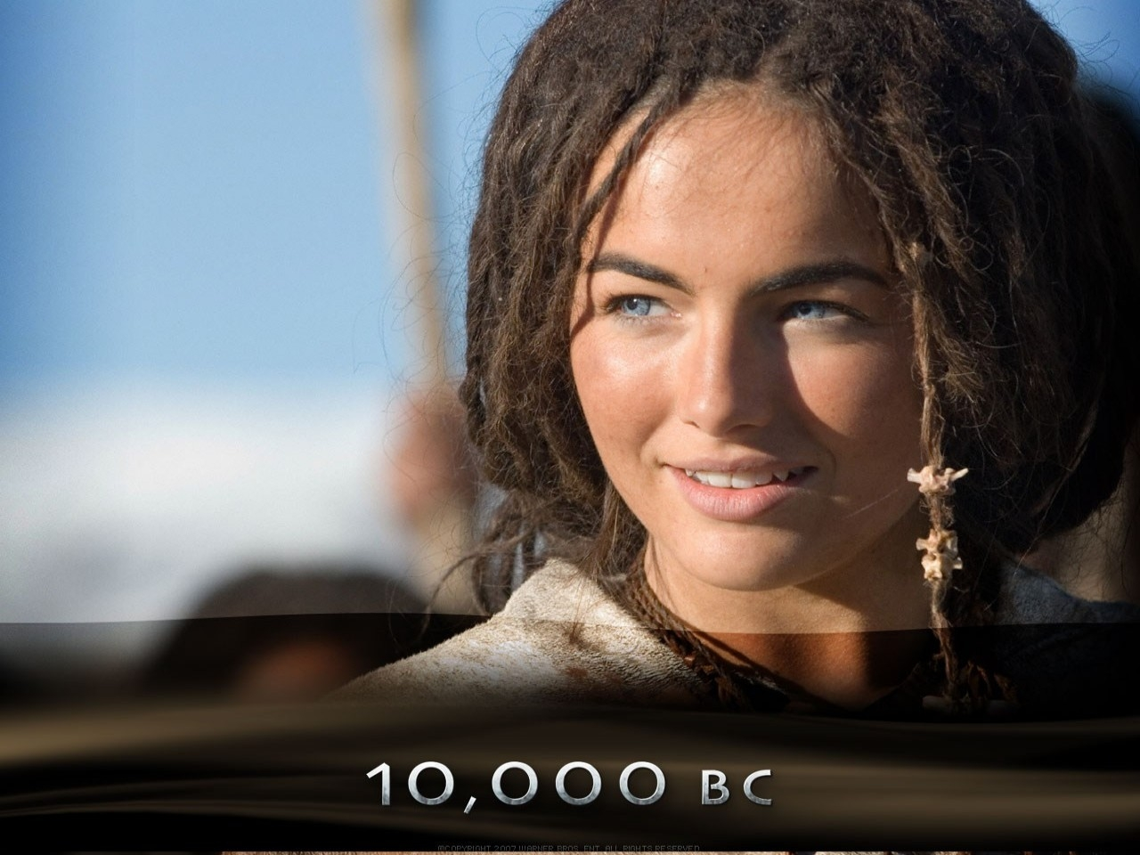 Wallpaper del film 10000 AC con Camilla Belle