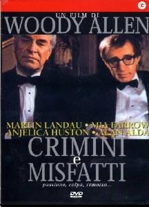 La copertina DVD di Crimini e misfatti