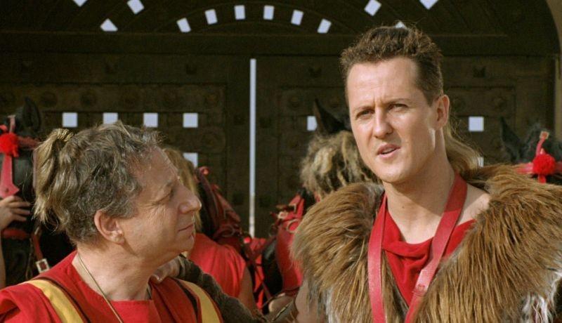 Michael Schumacher è Schumix, uno dei personaggi di Asterix alle Olimpiadi