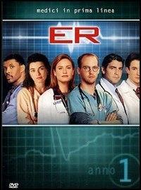 La copertina DVD di E.R. - Medici in prima linea, Stagione 01