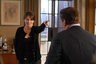 Alec Baldwin e Tina Fey in una scena dell'episodio 'Jack Gets in the Game' della seconda stagione di 30 Rock