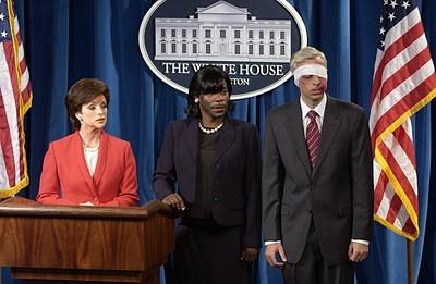 Jane Krakowski, Tracy Morgan e Lonny Ross nell'episodio 'Jack the Writer' della prima stagione di 30 Rock