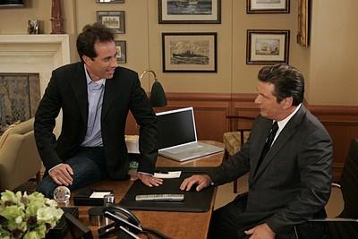 Jerry Seinfeld e Alec Baldwin nell'episodio 'Seinfeldvision' della seconda stagione di 30 Rock