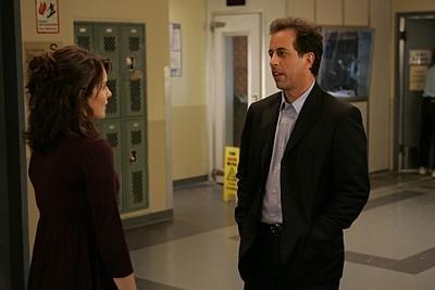 Jerry Seinfeld e Tina Fey nell'episodio 'Seinfeldvision' della seconda stagione di 30 Rock