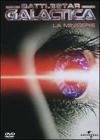 La copertina DVD di Battlestar Galactica: La miniserie