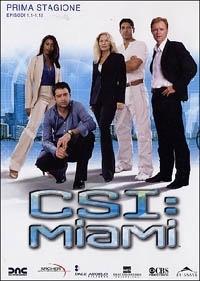 La copertina DVD di CSI: Miami - Stagione 1 - Parte 1