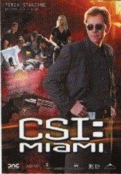 La copertina DVD di CSI: Miami - Stagione 3 - Parte 1