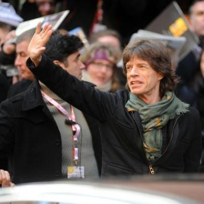 Mick Jagger arriva alla conferenza stampa di Shine a Light