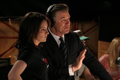 Tina Fey e Alec Baldwin nell'episodio 'Pilot' di 30 Rock