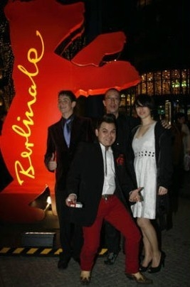 Junio Valverde, Isidro Ortiz, Blanca Suárez e Jimmy Barnatán a Berlino 2008 per Escalofrío