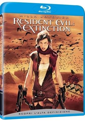 La copertina DVD di Resident Evil: Extinction (Blu-Ray)