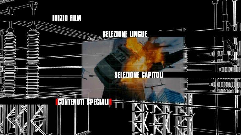 Il menù principale del primo disco di Die Hard - Vivere o morire - Edizione speciale