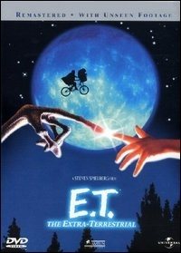 La copertina DVD di E.T. l'extra-terrestre