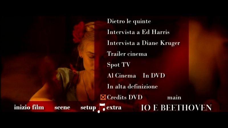 La schermata dei contenuti speciali di Io e Beethoven