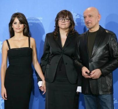 Penelope Cruz, Isabel Coixet e Ben Kingsley a Berlino 2008 per 'Elegy'