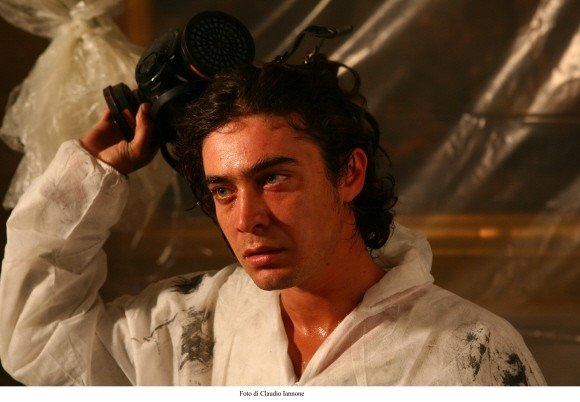 Riccardo Scamarcio in un'immagine del film Colpo d'occhio di Sergio Rubini