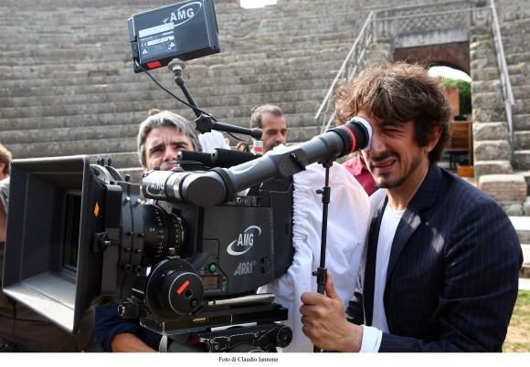 Sergio Rubini sul set del film Colpo d'occhio