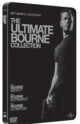 La copertina DVD di The Ultimate Bourne Collection