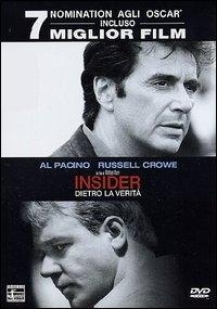 La copertina DVD di Insider - Dietro la verità