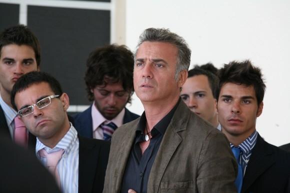Massimo Ghini in una sequenza del film di Paolo Virzì Tutta la vita davanti.