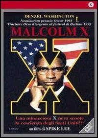 La copertina DVD di Malcolm X