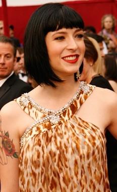 Diablo Cody sul red carpet degli 80° Academy Awards.