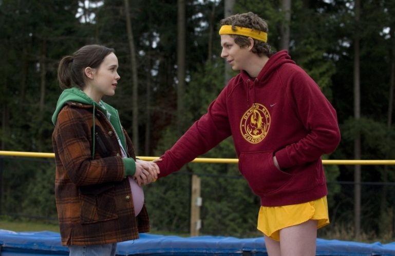 Ellen Page e Michael Cera in una scena del film Juno