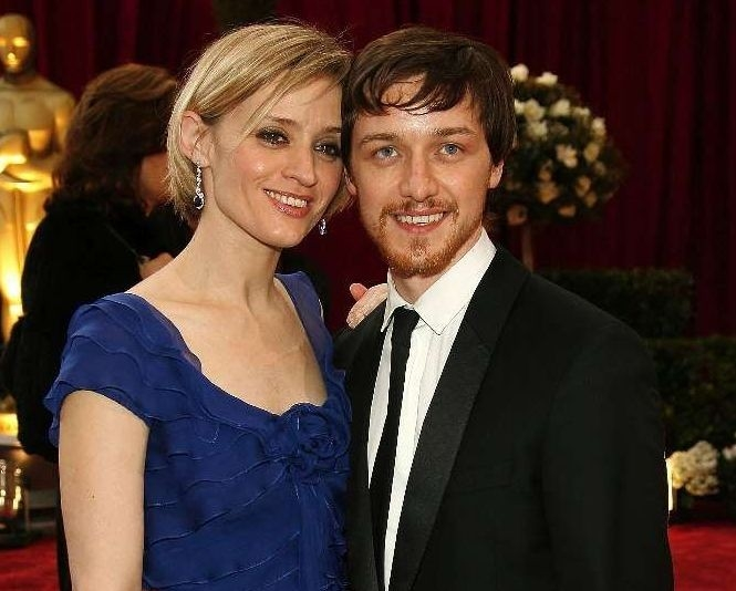 James McAvoy e sua moglie Anne-Marie Duff sul red carpet degli 80° Academy Awards.