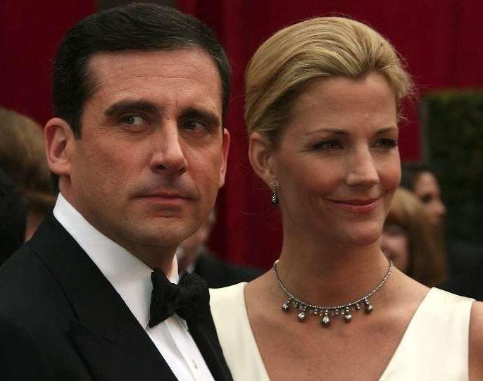 Steve Carell e sua moglie Nancy Walls sul red carpet degli 80° Academy Awards.